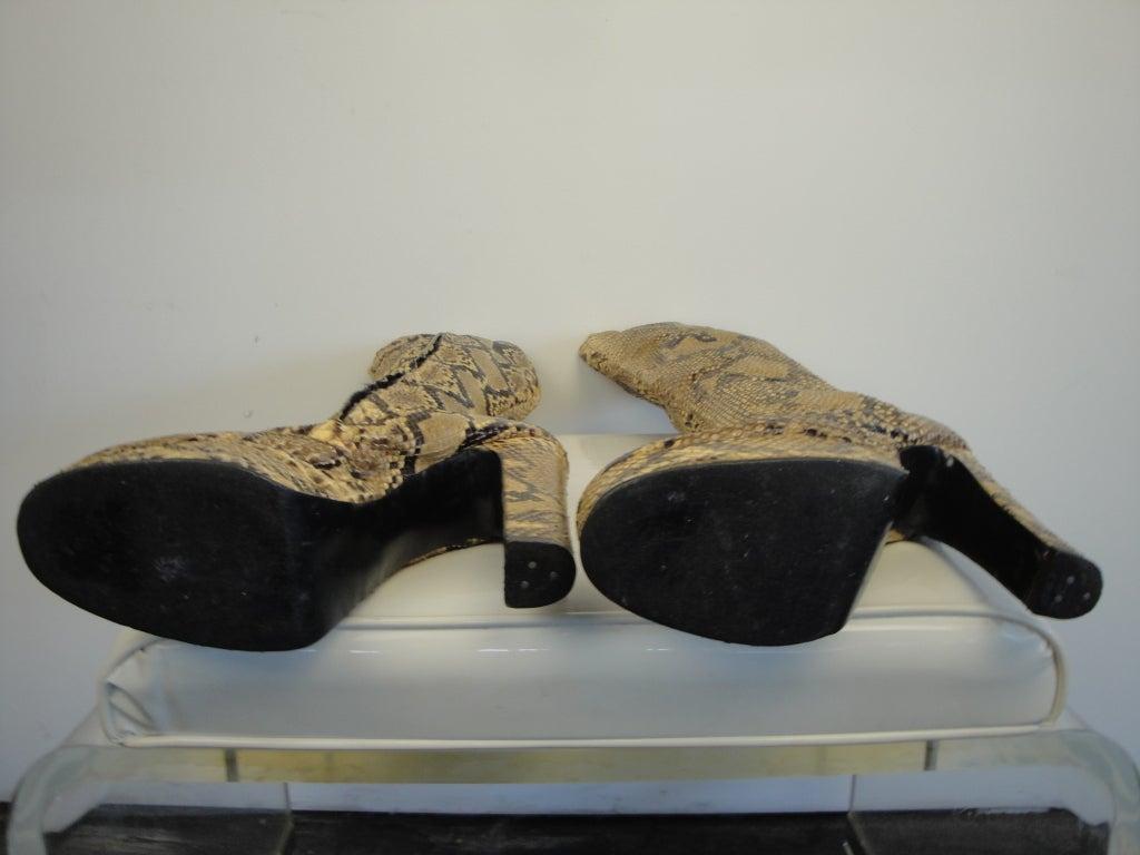 1970's Python Platform Boots 8