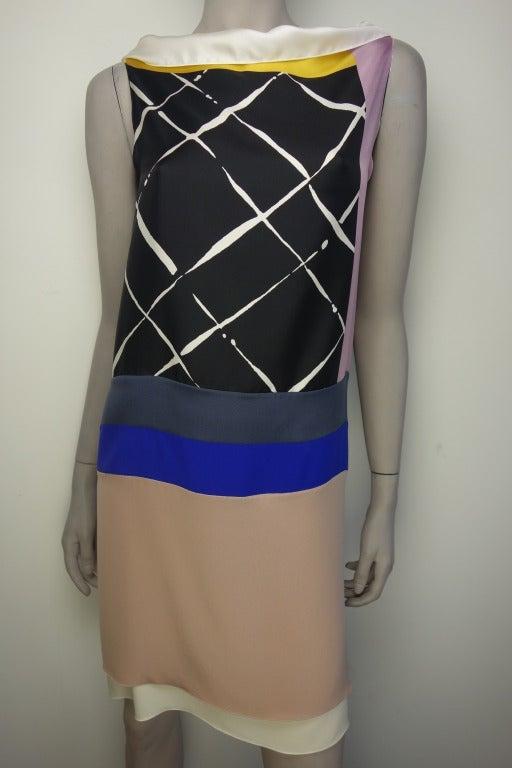 Vionnet Printed Silk Sleeveless Sheath Dress 2
