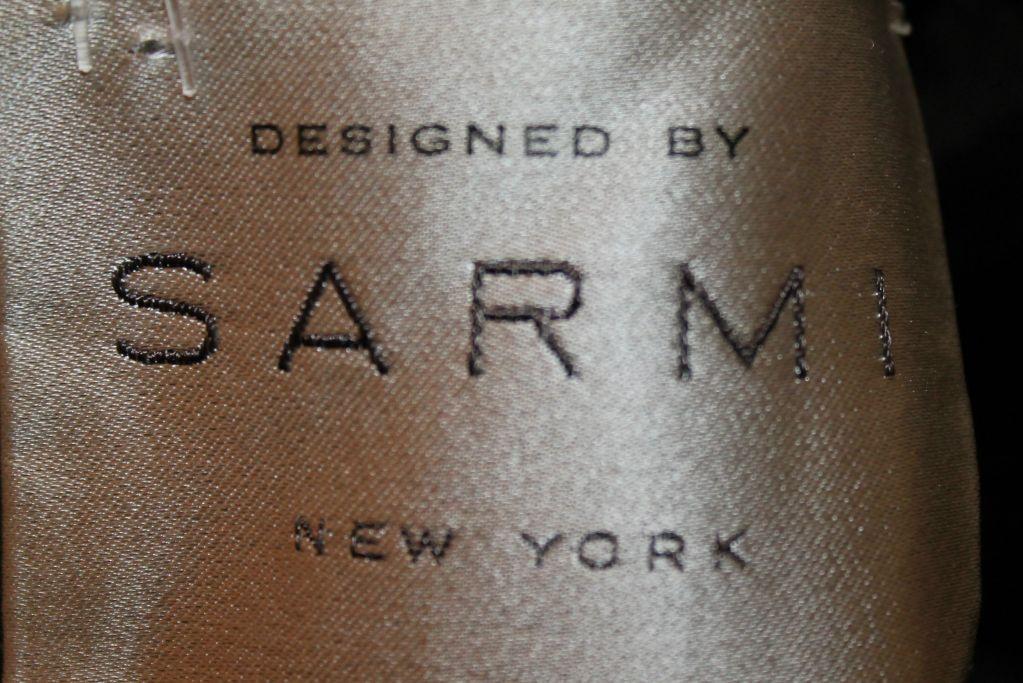 Sarmi Cellophane Encrusted Black Lace Cocktail Dress 9