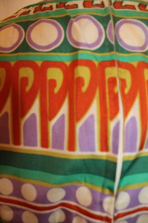 Vintage Malcolm Starr Silk Print Maxi - Sz S- Circa 70's image 5