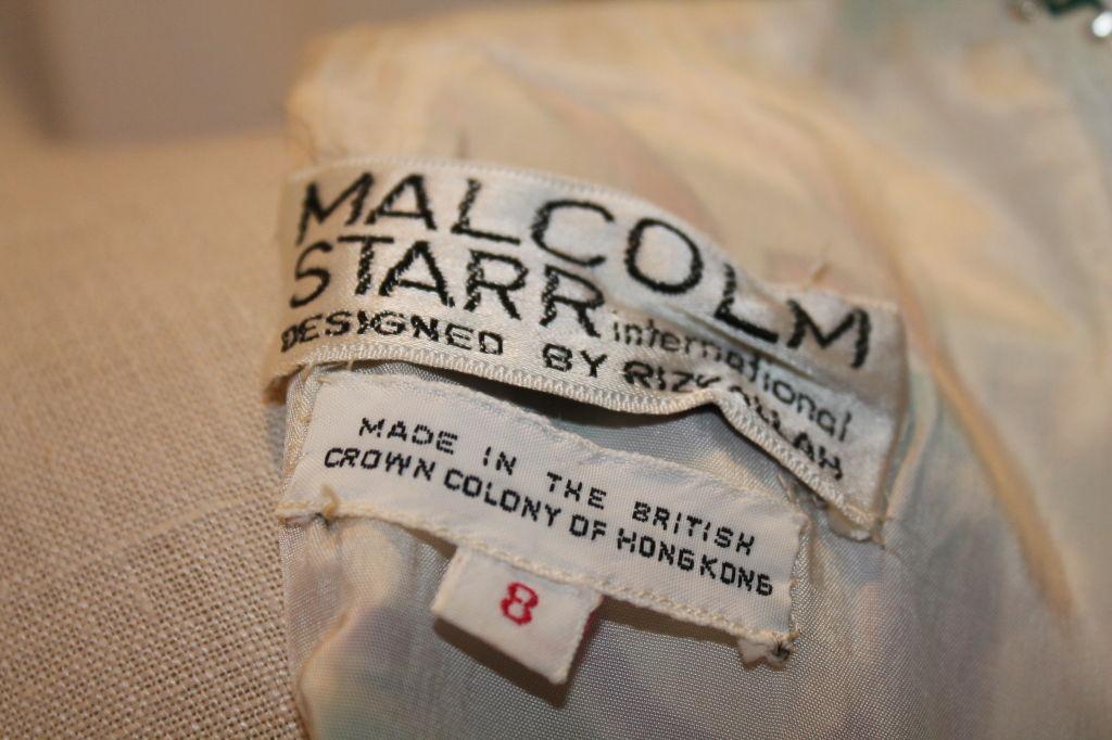 Vintage Malcolm Starr Silk Print Maxi - Sz S- Circa 70's image 7