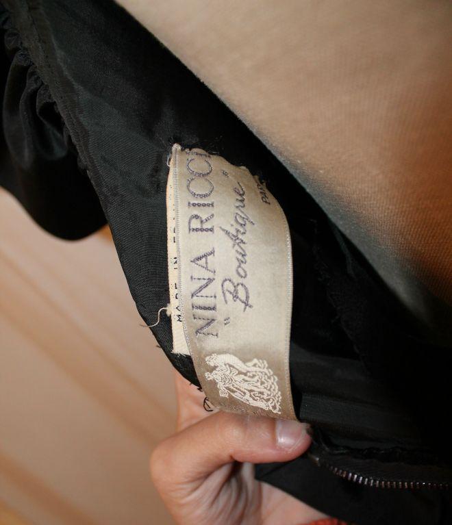 Vintage Nina Ricci Black Crepe/Silk Taffeta Halter Dress-Sz 6- 80's For Sale 2