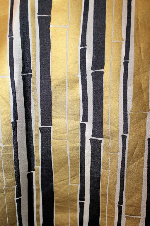 YSL Gold and Black Bamboo Print Blouse - 38 - 1990's  For Sale 1