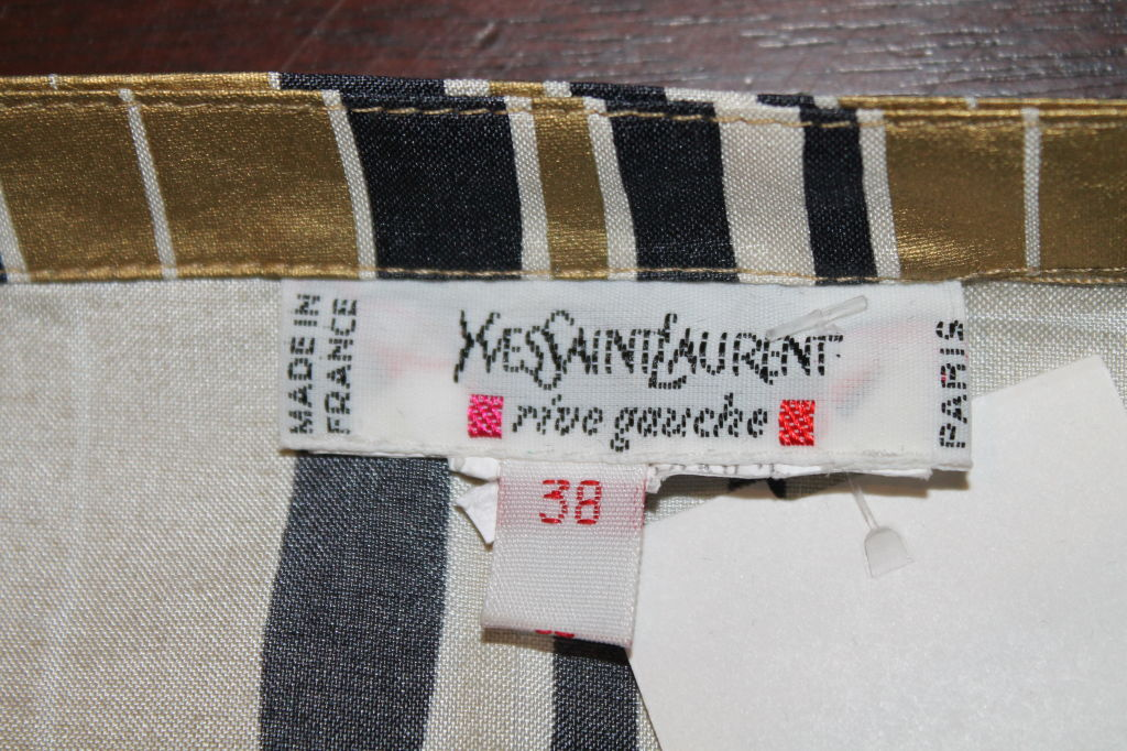 YSL Gold and Black Bamboo Print Blouse - 38 - 1990's  6