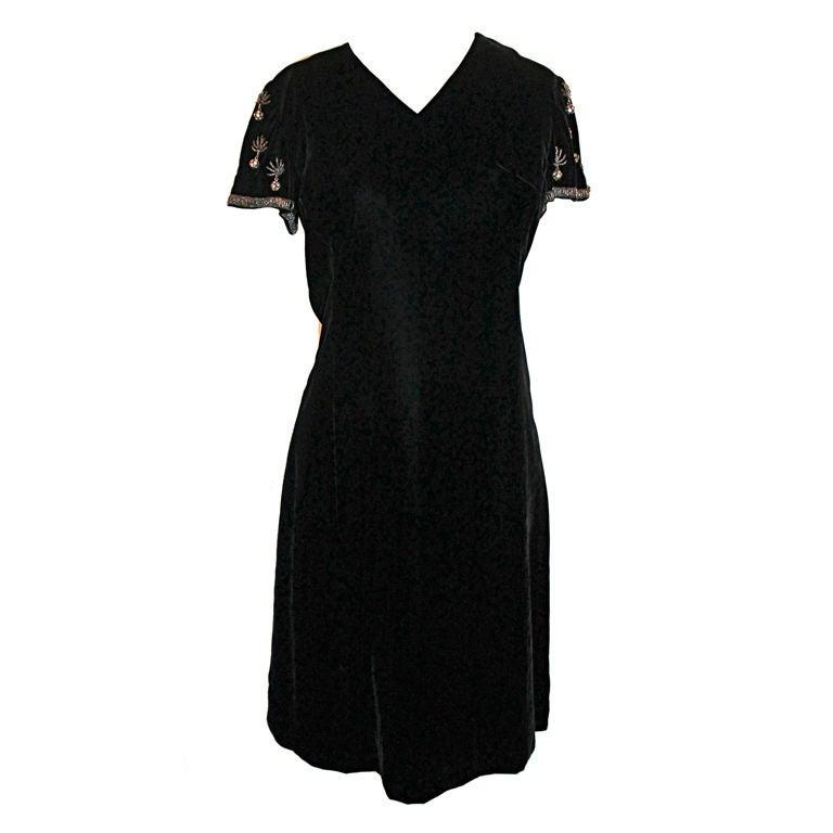 Vintage Black Shift Dress