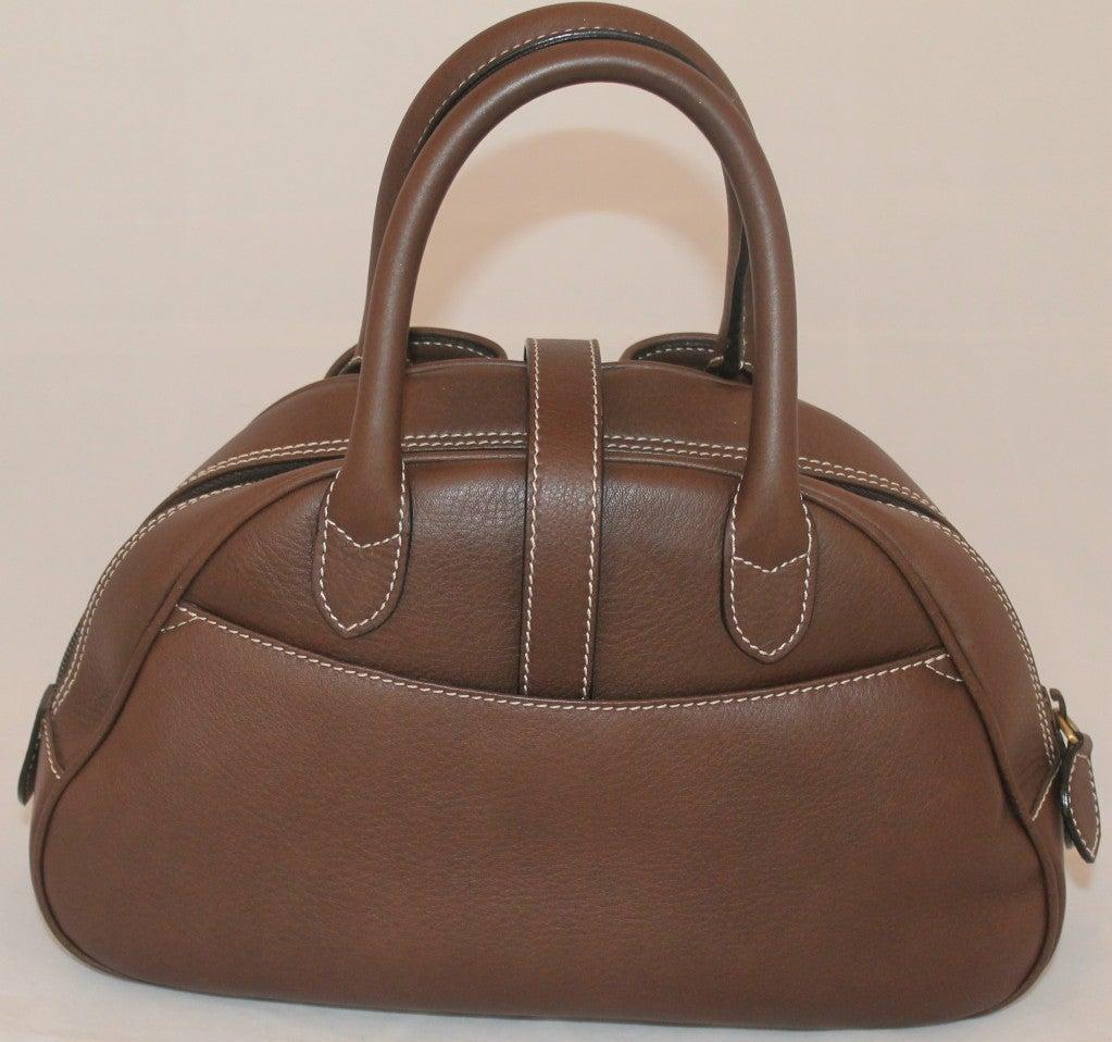 Christian Dior Brown Leather Top Handle Mini Bag For Sale ...