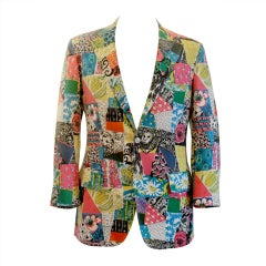 Vintage Lilly Pulitzer Mens Stuff Multi Color/Print Sport Jacket