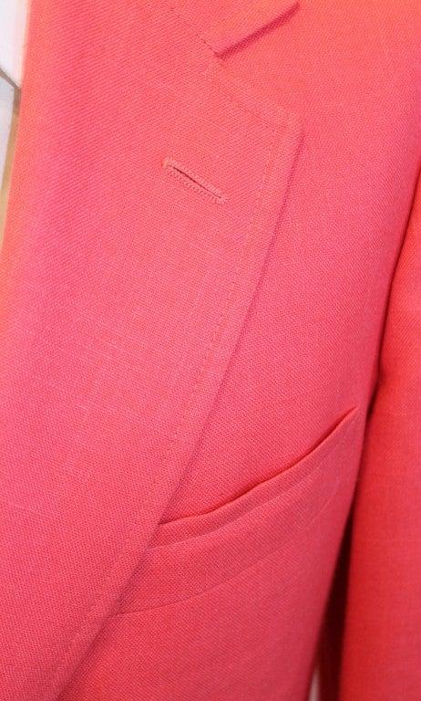 9855fc8e1d00a4 Vintage Lilly Pulitzer Mens Stuff Pink Sport Jacket-40 For Sale 3