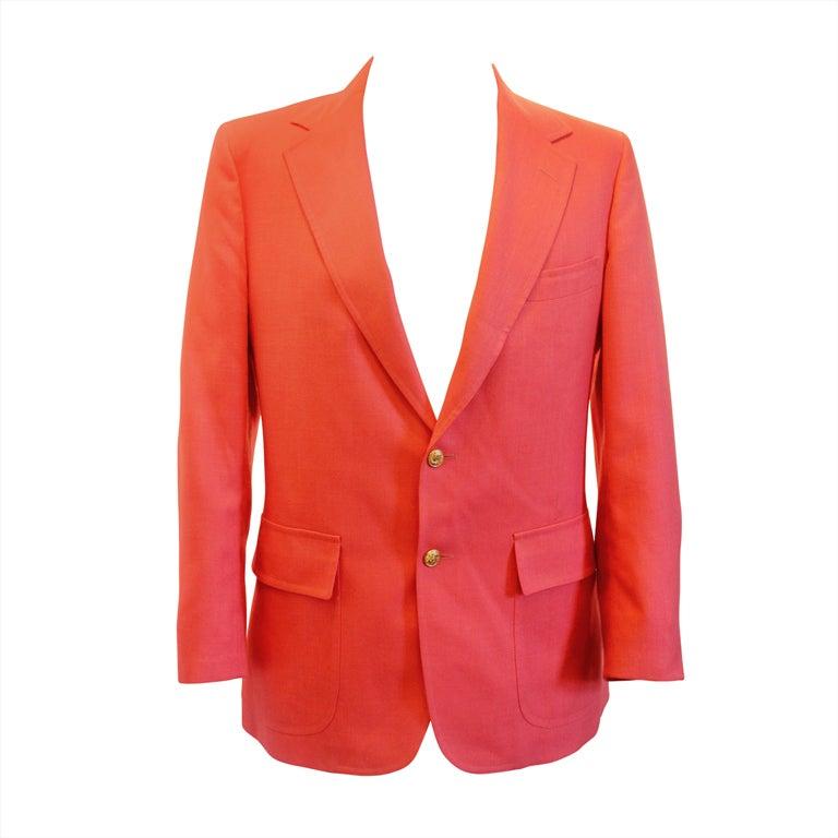 c3d8391ea52eb8 Vintage Lilly Pulitzer Mens Stuff Pink Sport Jacket-40 at 1stdibs