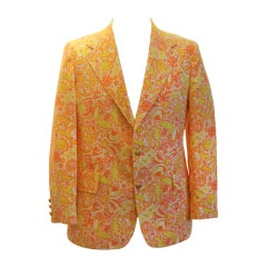 Vintage Lilly Pulitzer Orange/Yellow/Ivory Sport Jacket-42