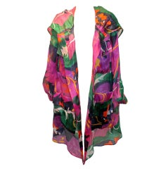 Valentino Multi Color Silk Organza Jacket
