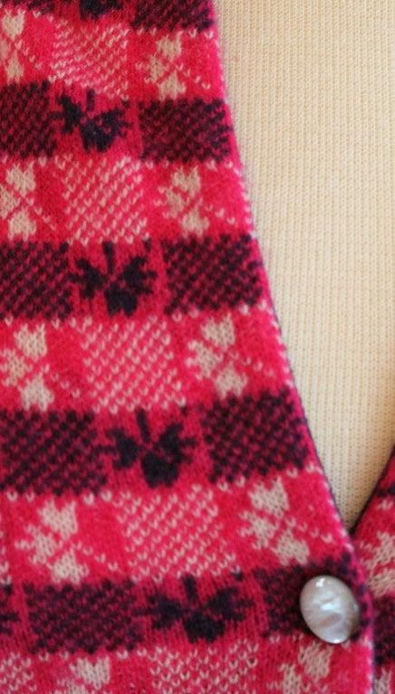 Chanel Pink Print Cashmere Cardigan - Sz 36 - Circa 01P 5