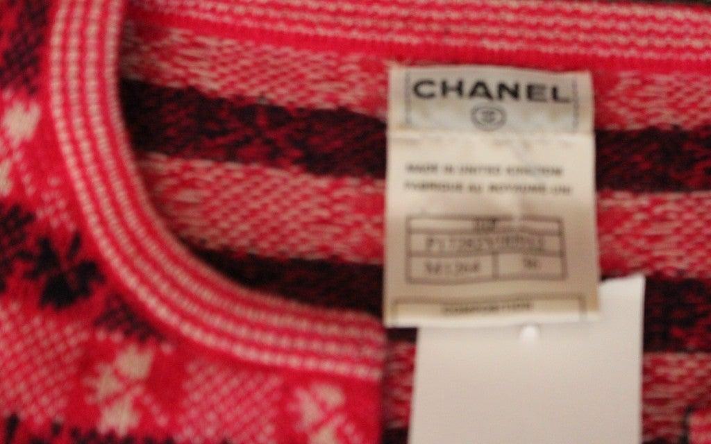 Chanel Pink Print Cashmere Cardigan - Sz 36 - Circa 01P 6
