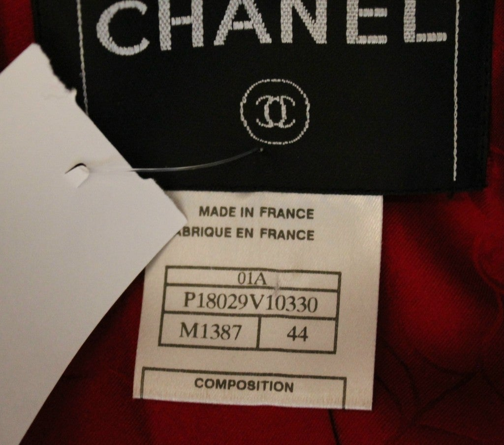 Chanel Pink Tweed Jacket with Belt For Sale 7