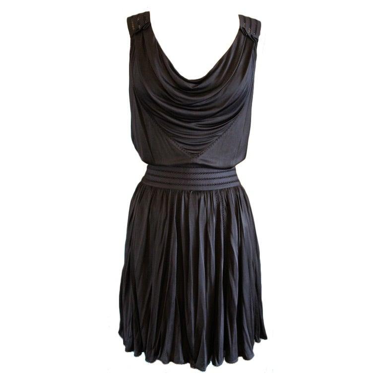 Louis Vuitton Black Jersey Top and Skirt Set