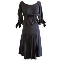 YSL Black 2 Piece Dress-6