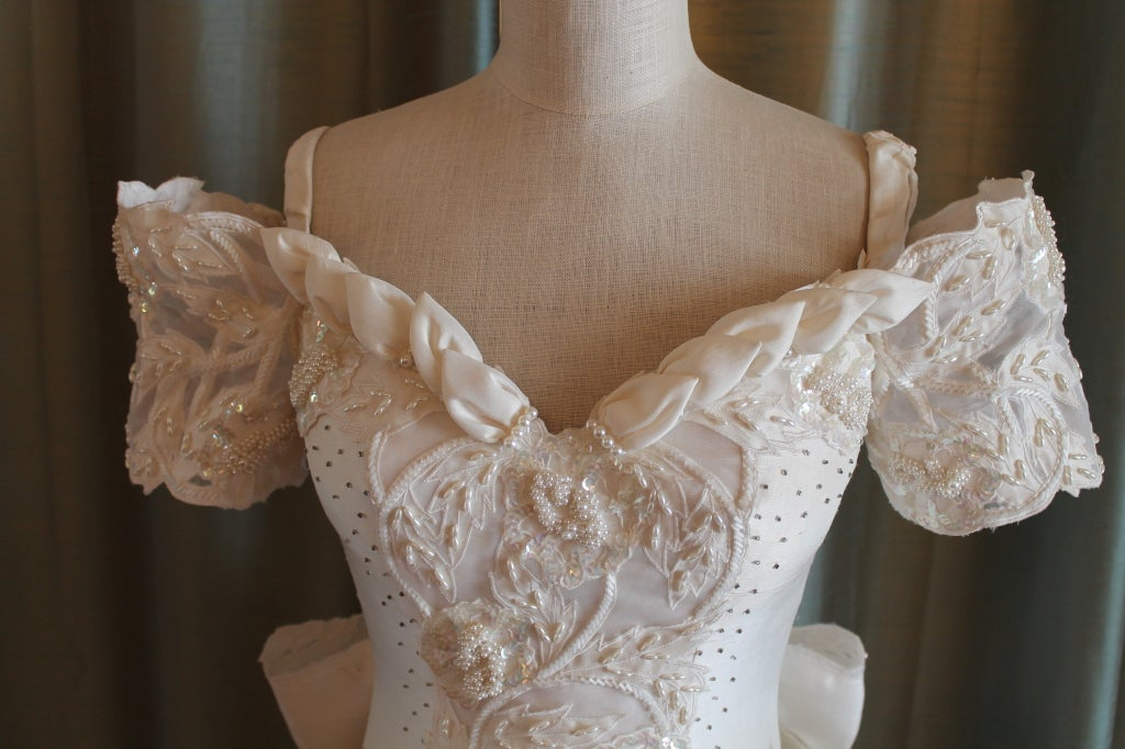 Unique Eva Haynal Forsyth 1989 Wedding Dress 3