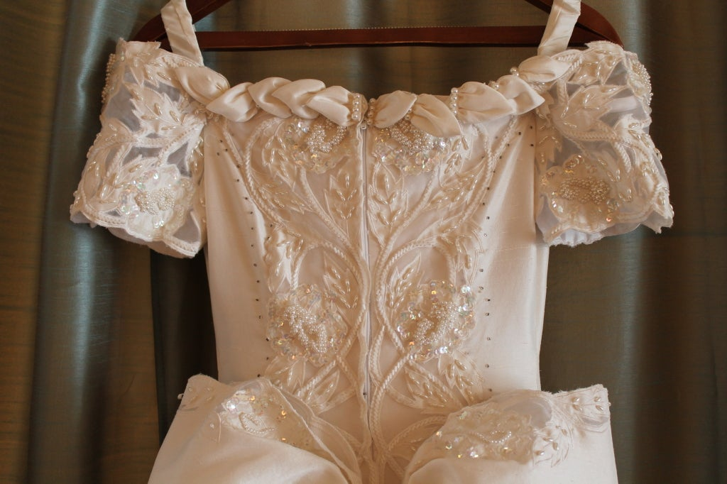 Unique Eva Haynal Forsyth 1989 Wedding Dress 7
