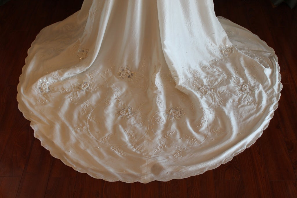 Unique Eva Haynal Forsyth 1989 Wedding Dress 9