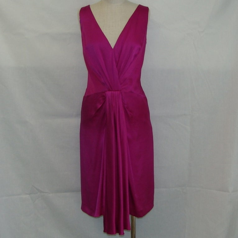Christian Dior fuschia silk dress 2