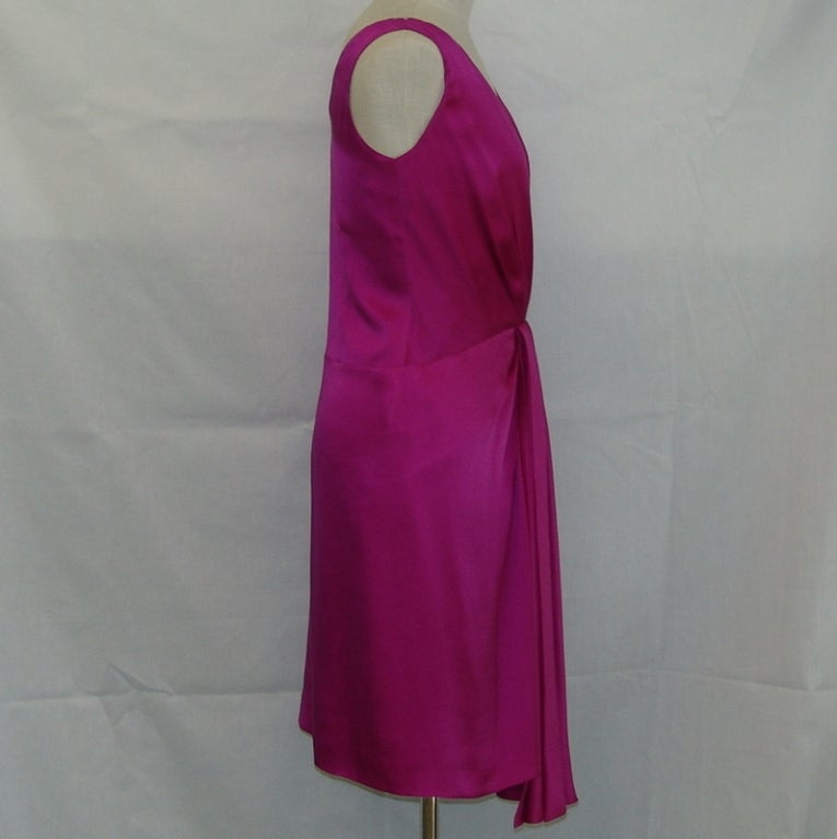 Christian Dior fuschia silk dress 3