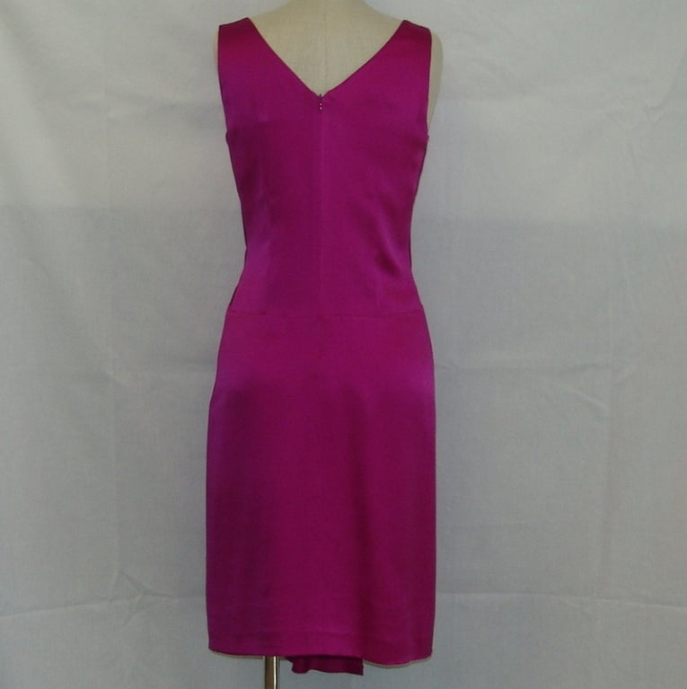 Christian Dior fuschia silk dress 4