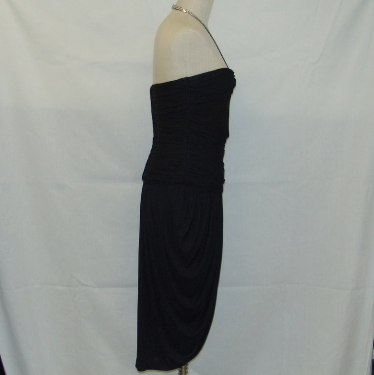 Vicky Tiel black halter dress with rhinestones 3