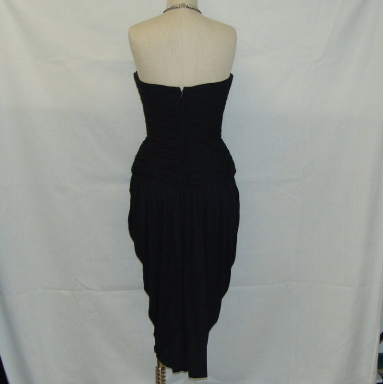 Vicky Tiel black halter dress with rhinestones 4
