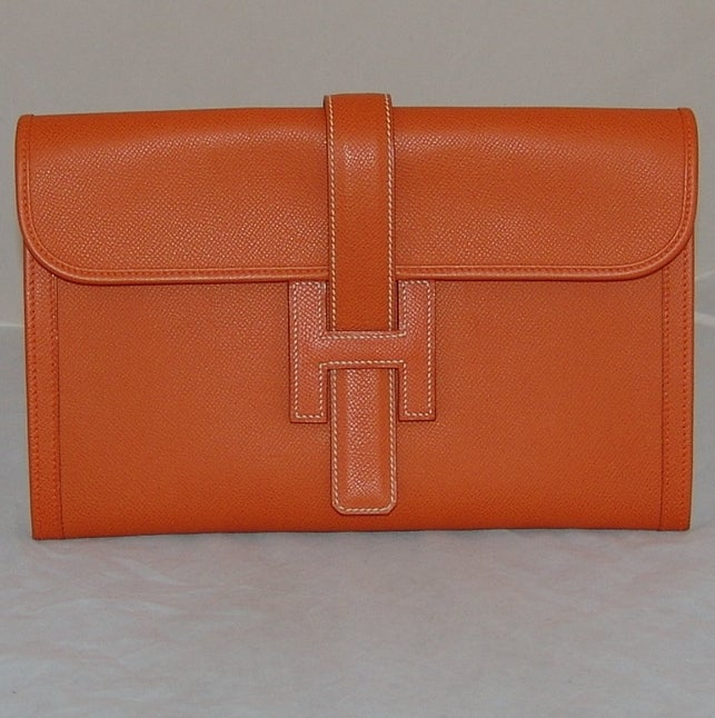 Hermes Orange Jige PM Clutch - 2006 2