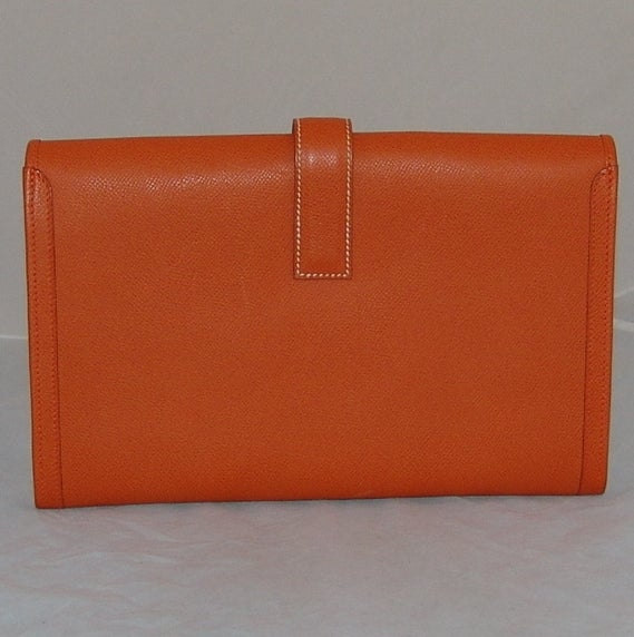 Hermes Orange Jige PM Clutch - 2006 3