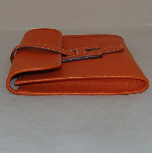 Hermes Orange Jige PM Clutch - 2006 4