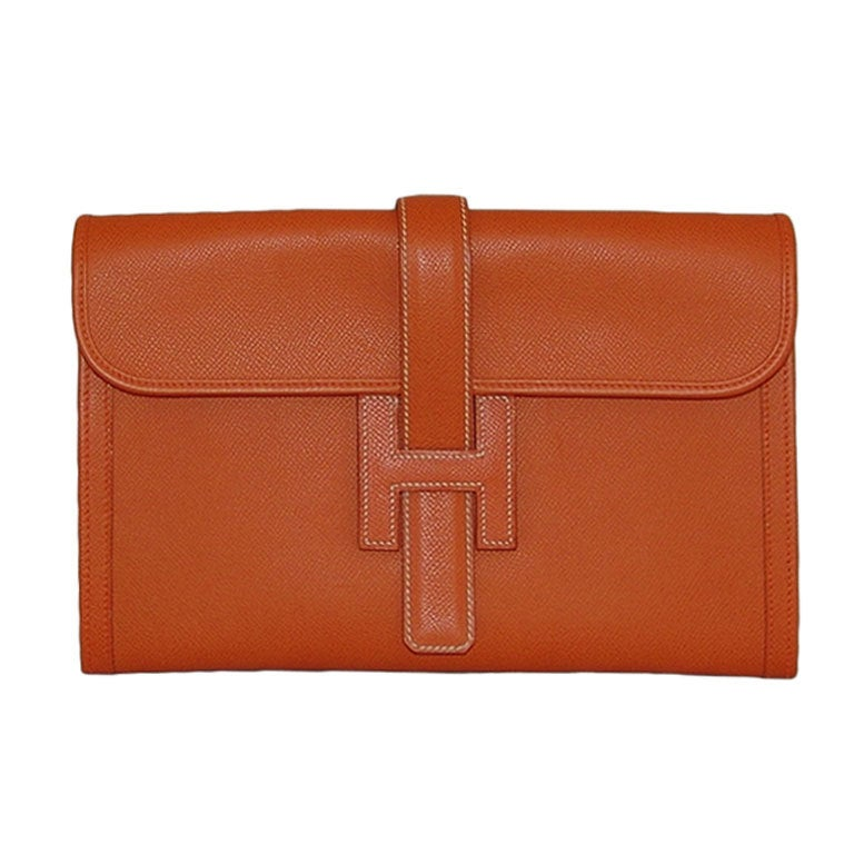 Hermes Orange Jige PM Clutch - 2006 1