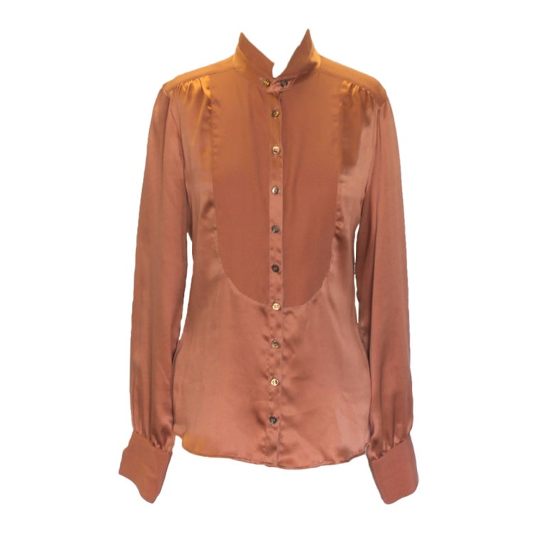 Etro Rust Silk Blouse 1