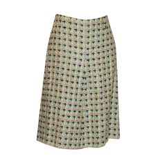 Chanel Multi Colored Knit Skirt