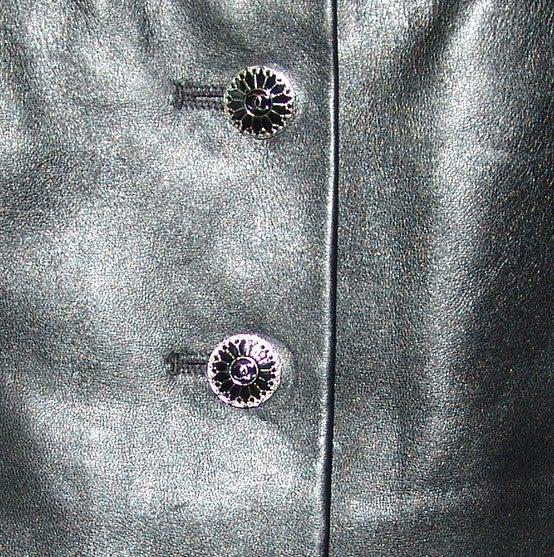 Chanel Black Leather Mini Skirt 4