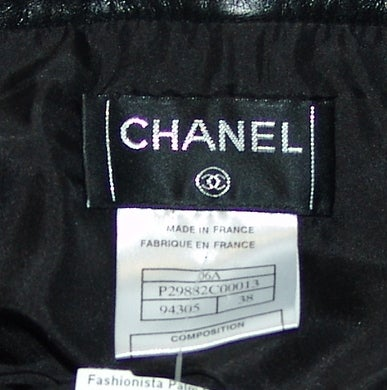 Chanel Black Leather Mini Skirt 5