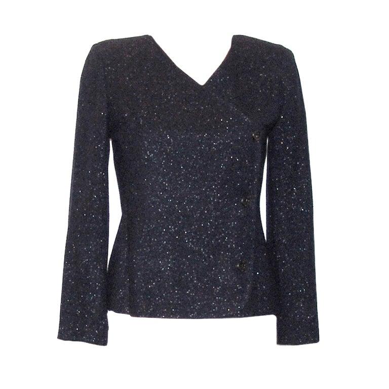 Chanel Black Shimmer Jacket 1