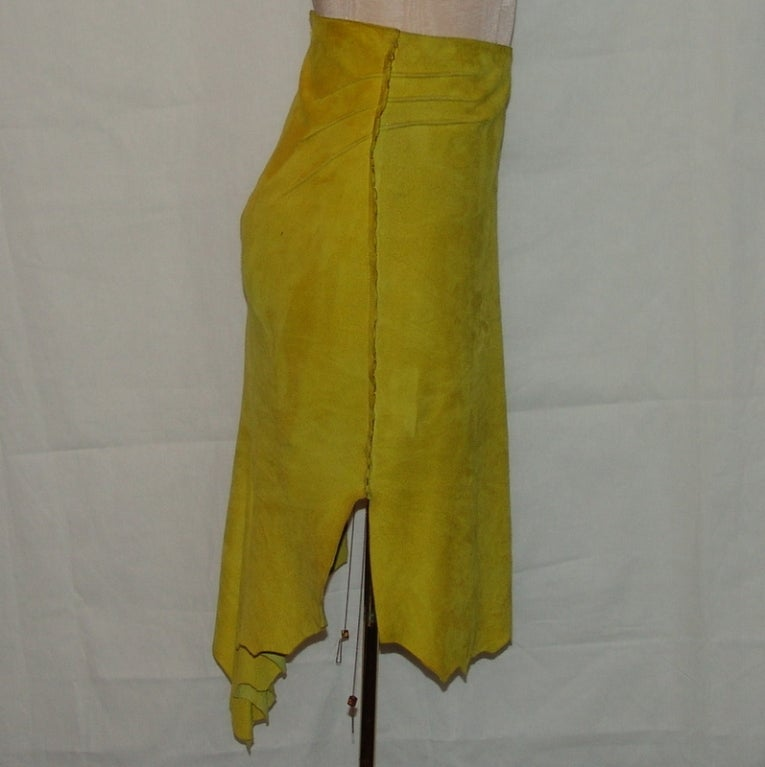 Cavalli mustard colored suede skirt at 1stdibs for Mustard colored costume jewelry
