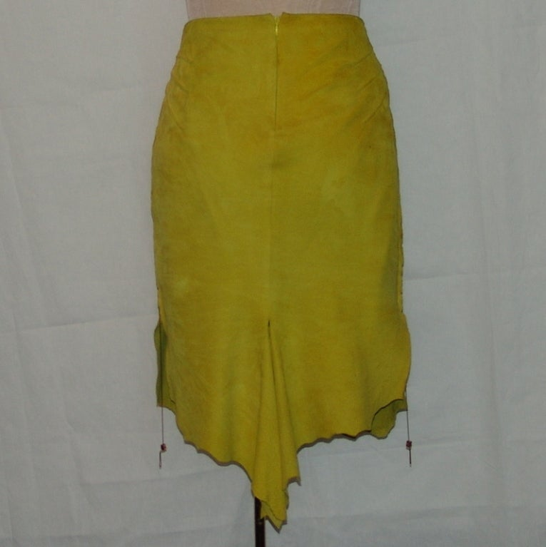 Cavalli mustard colored suede skirt for sale at 1stdibs for Mustard colored costume jewelry