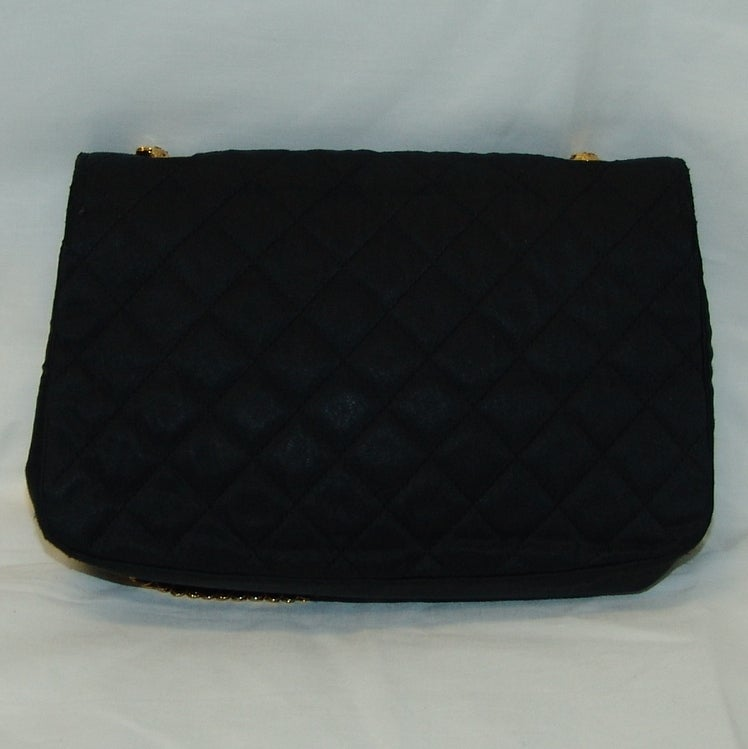Chanel Black Satin Handbag 2