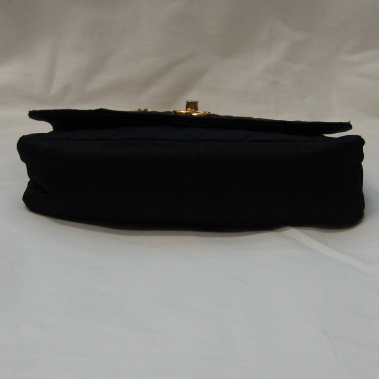 Chanel Black Satin Handbag 3