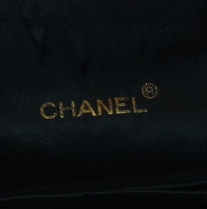 Chanel Black Satin Handbag 4