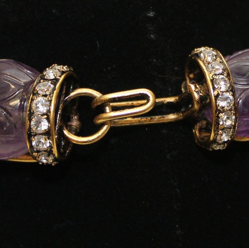 Iradj Moini  Amethyst and Semi Precious Lime Crystal Necklace 4