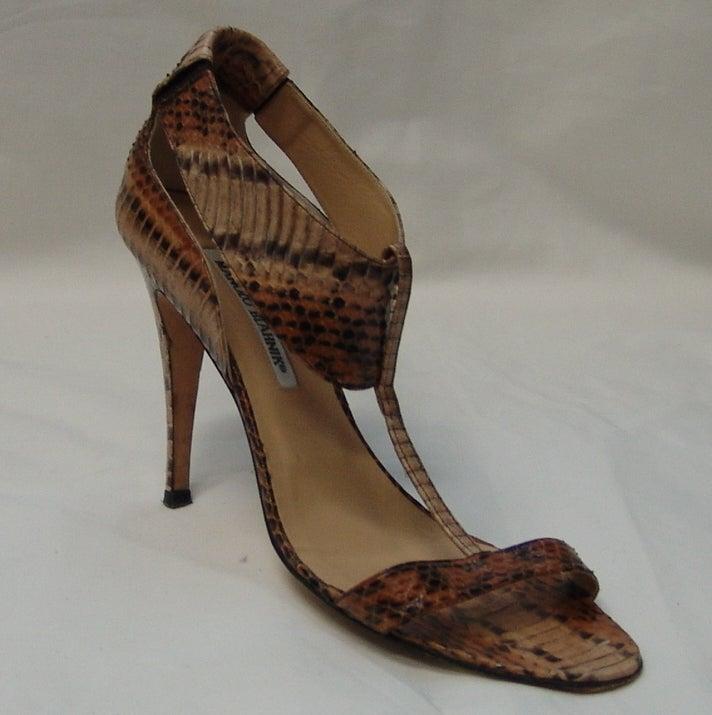 Manolo Blahnik Snake Skin Shoes 2
