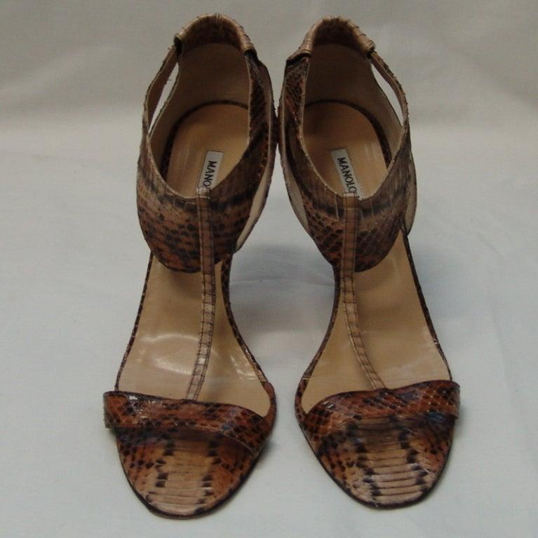 Manolo Blahnik Snake Skin Shoes 3