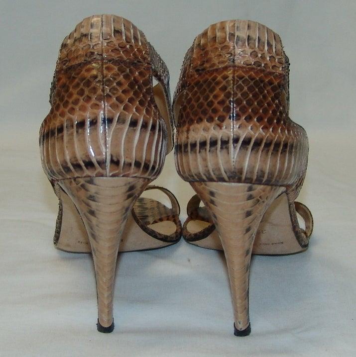 Manolo Blahnik Snake Skin Shoes 4