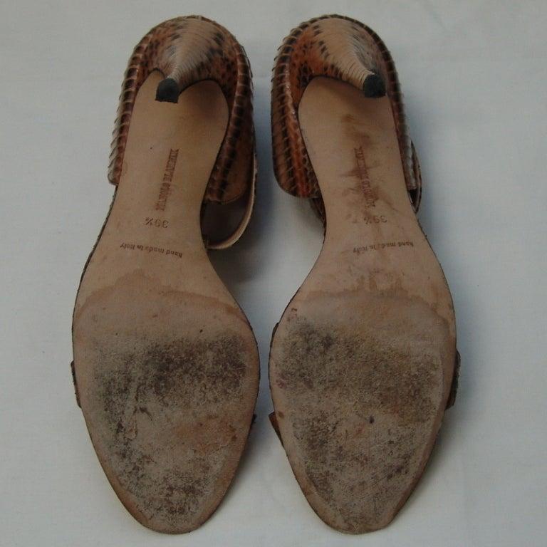 Manolo Blahnik Snake Skin Shoes 5