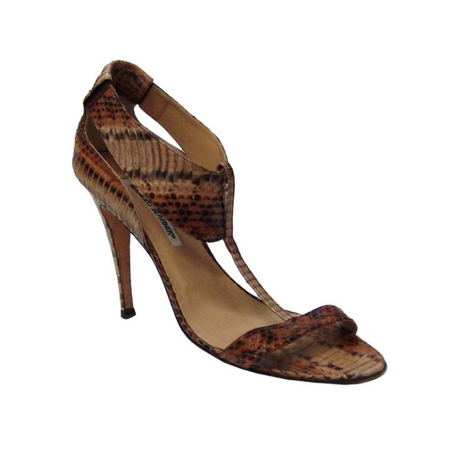 Manolo Blahnik Snake Skin Shoes 1