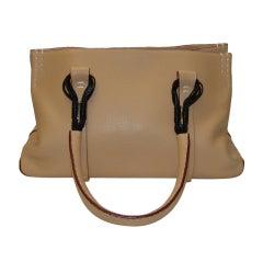 VBH Bertha Tan Calfskin Handbag