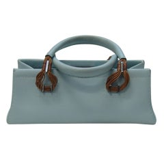 VBH Bassotto Light Blue Calfskin Handbag